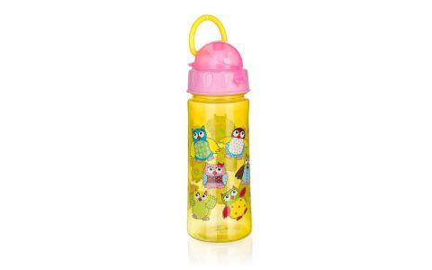 BANQUET Láhev plastová OWLS Pink 500 ml