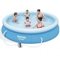 BESTWAY Rozkladací bazén okr.427x84cm +F/K