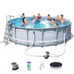 BESTWAY Rozkladací bazén okr. 488x122cm + F/K/R/P