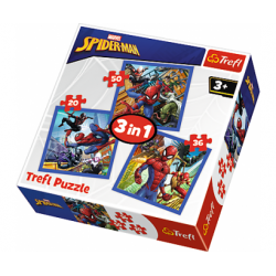 Trefl Puzzle 3v1 Disney Marvel Spiderman