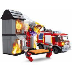 Ausini stavebnica hasiči s domom