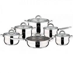 Blaumann Sada nádobí nerez Gourmet Line 12 ks