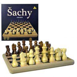Šach deluxe drevený