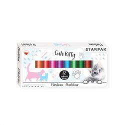 Plastelína 12 farieb - mačky