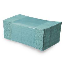 Papierové uteráky  zz, 25x23 cm, zelené (5000 ks)