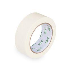 Lepiaca páska krep biela 50 m x 38 mm (do+80°c)