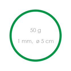 Gumičky zelené slabé (1 mm, o 5 cm) [50 g]