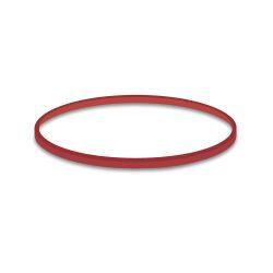 Gumičky červené slabé (1 mm, o 8 cm) [50 g]