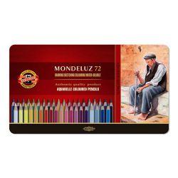 Pastelky koh-i-noor mondeluz, akvarelové, sada 72 ks v plech. boxe
