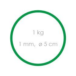 Gumičky zelené slabé (1 mm, o 5 cm) [1 kg]