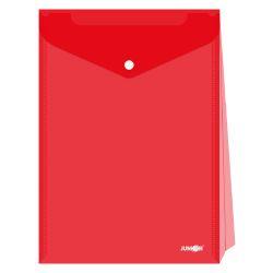 Obal s patentkou - rozšíriteľný pp/a4 up, priehľadný/červený