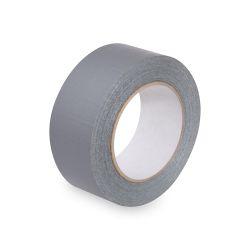 Lepiaca páska s látkou, strieborná 50m x48 mm
