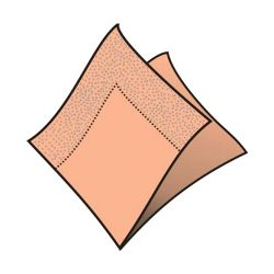 Obrúsky 2-vrstvé 33 x 33 cm  apricot 250 ks