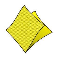 Obrúsky dekostar 40 x 40cm žlté /40ks/