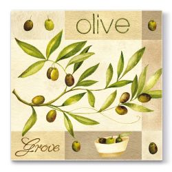 Obrúsky paw l 33x33cm olive garden