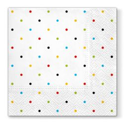 Obrúsky paw l 33x33cm colorful dots