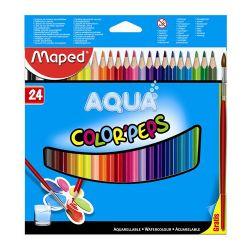 """Pastelky trojhranné - akvarelové maped """"color`peps"""", 24 ks + štetec"""