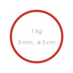 Gumičky červené silné (3 mm o 5 cm) [1 kg]
