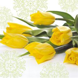 Obrúsky paw l 33x33cm yellow tulips