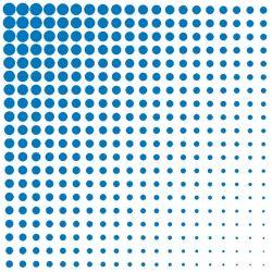 Obrúsky paw l 33x33cm fade dots blue