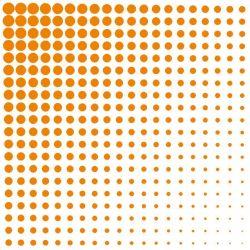 Obrúsky paw l 33x33cm fade dots orange