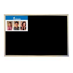 Tabuľa v drevenom ráme, čierna, na kriedu, 60 x 90 cm