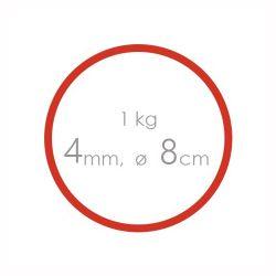 Gumičky červené silné (4 mm, o 8 cm) [1 kg]