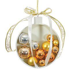 Vianočná dekorácia - šampanská zlatá 21 cm, 1ks