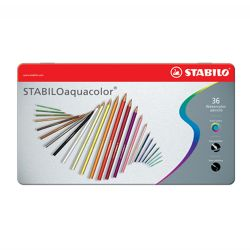 Pastelky stabilo aquacolor, metal box 36 ks
