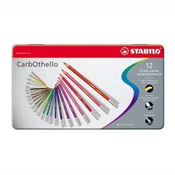 Pastelky carbothello - pastelová krieda metal box 12 ks