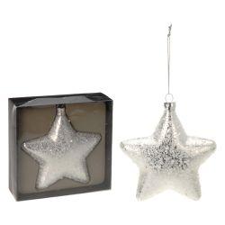Vianočná ozdoba - pp strieborná, hviezda 15 cm, 1ks