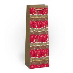 Darčeková taška vianočná t3 lux, mix