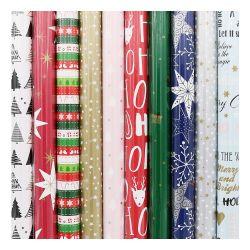 Papier darčekový vianočný (2 m) 200 x 70 cm, v rolke presenta christmas