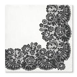 Obrúsky tat 33x33cm lacy frame black