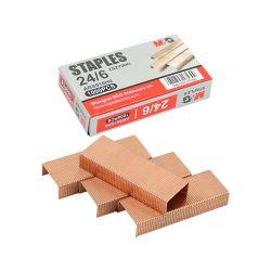 Spinky do zošívačky  medené m&g 24/6, 1000 ks