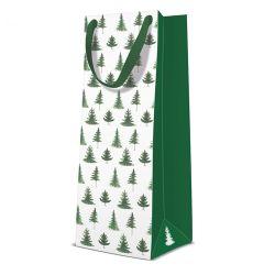 Darčeková taška paw conifer trees, bottle - 12x37x10 cm