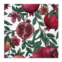Obrúsky paw l 33x33cm pomegranate