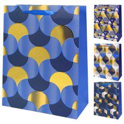 "Darčeková taška, illusions/metallic ""l"" (41,5x30x12 cm) - mix 4 dizajny"