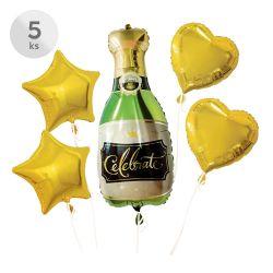 Balóny - celebrate, sada 5 ks, 2 ks/ 45 cm | 2 ks/48 cm | 1 ks/46x94 cm