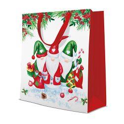 Darčeková taška paw christmas glomes, large - 26,5x33,5x13 cm