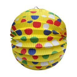 Lampión okrúhly žltý 24 cm
