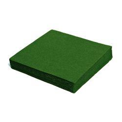 Obrúsky 33 x 33 cm tm. zelené 100 ks