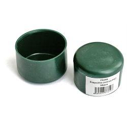 Čiapka Strend Pro METALTEC, na okrúhly stĺpik, plastová, zelená, 40 mm