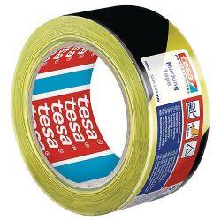Paska tesa® PRO Marking, výstražná, žlto-čierna, 50 mm, L-33 m