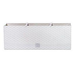 Kvetinac RATO Case 500, biely, CWS, zavlažovací systém