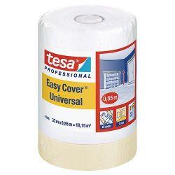 Folia tesa® Pro Easy Cover® Universal, s páskou, 550 mm, L-33 m, transparentná