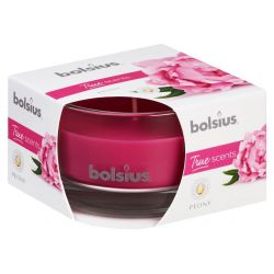 Sviecka bolsius Jar True Scents 50/80 mm, pivónia