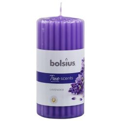 Sviecka bolsius Pillar True Scents 120/60 mm, levanduľa