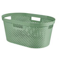 Kôš Curver® INFINITY RECYCLED 40L, zelený, 59x39x27 cm, na bielizeň, prádlo