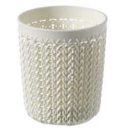 Organizér Curver® KNIT 0,6L, krémový, 11x10x10 cm, nádobka do kúpelne